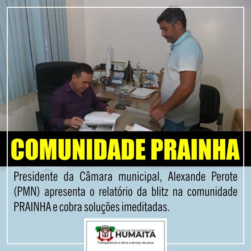 Alexandre Perote apresenta Relatório de Blitz Legislativa realizada na comunidade Prainha ao prefeito
