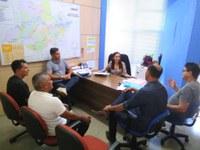 Frente Parlamentar de Humaitá visita deputado federal Sidney Leite e a sede da Seduc